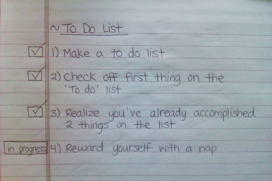 word 2013 to do list