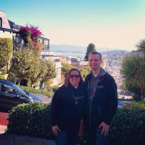 Scott and I at the top of Lombard Street