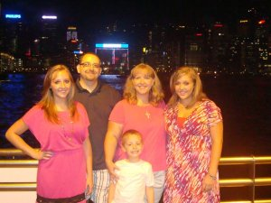 My family serving together in Hong Kong on a mission trip.