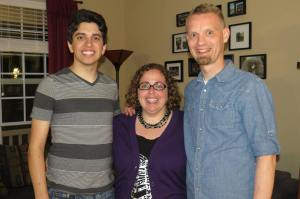Nic, my husband Scott and I at his graduation party